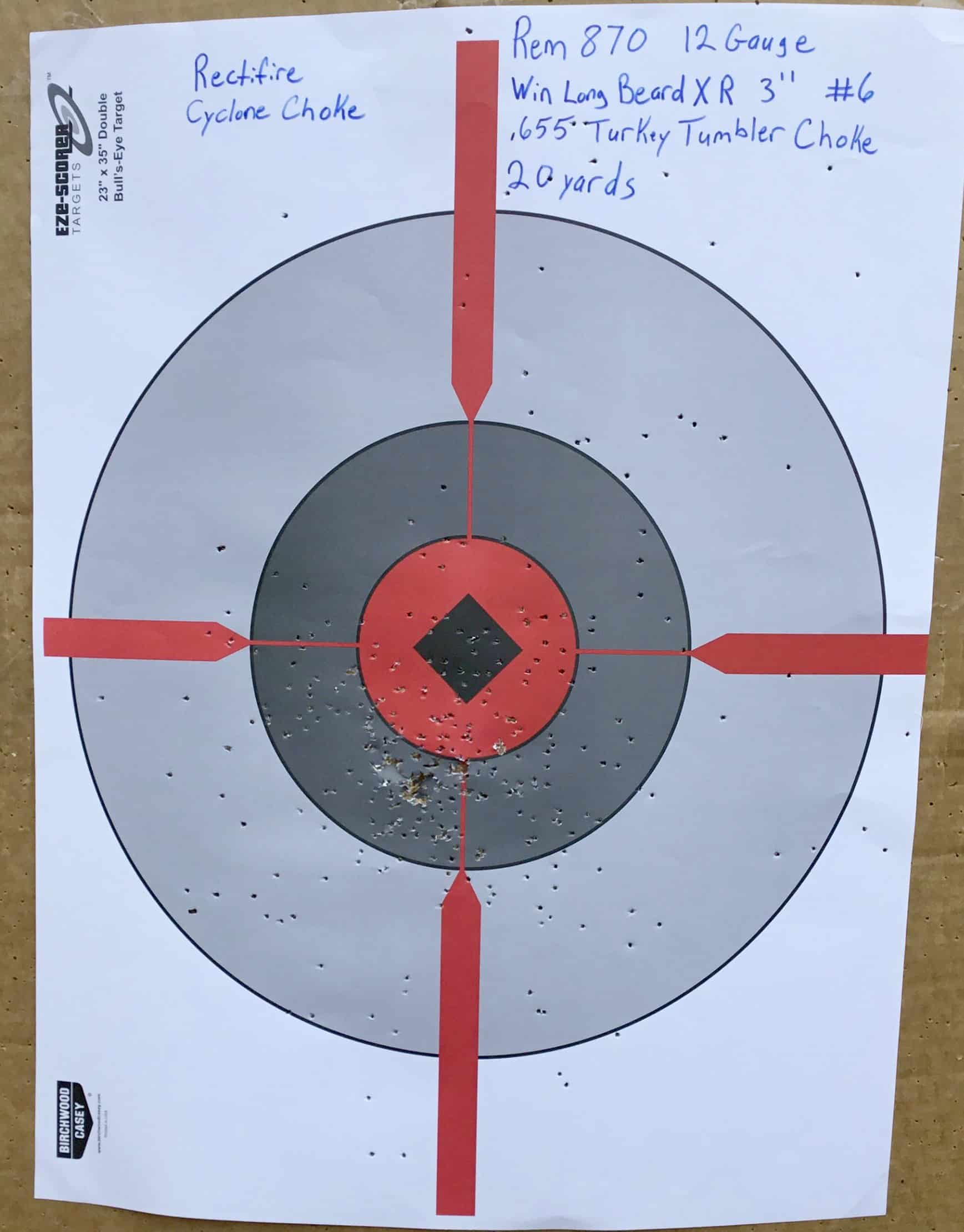 Remington 870 12 Gauge @ 20 yds.